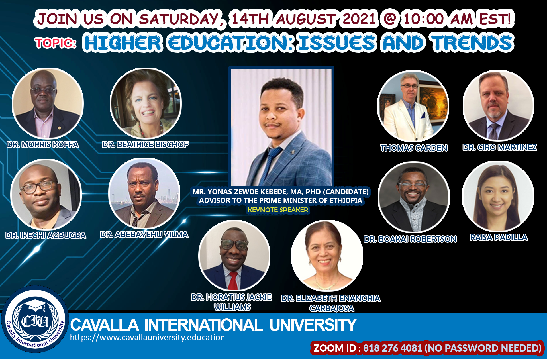 Virtual Seminar: Higher Education on Issues and Trends